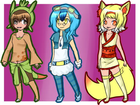 Generation 6 adoptable [open] by Pangoro-hime