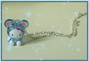 Hello kitty Mice necklace by PookieTookieJewelry