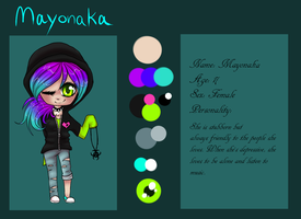 Mayonaka Reference Sheet by Sorasongz