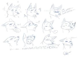 fox sneeze by frade123