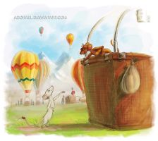 Eumundi and Friends Hot Air Balooning by Adorael
