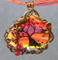 Twilight Forest Tree Necklace by sojourncuriosities