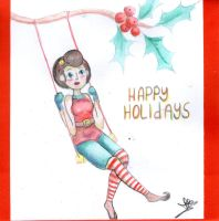 Holiday card project 2015 by Aerystha