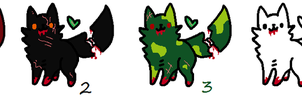 Free Zombie Cat Adoptables (CUSTOMS OPEN) by JaggedFangsTheBear