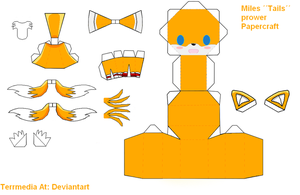 Miles ''Tails'' Prower Papercraft by terrmedia