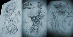 last custom tattoo sketches by ArturNakolet