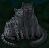 Silverstream and Graystripe by Vialir