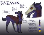 Daemon Ref Sheet by L0neDrag0n