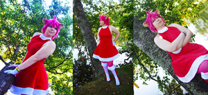 Sonic the Hedgehog, Amy Rose gijinka cosplay by pikachu-25