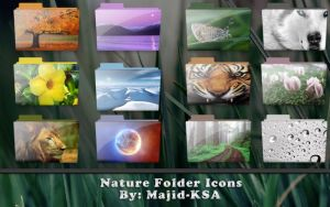 Nature Folder Icons by Majid-KSA