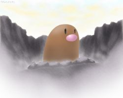 Diglett - Sunset Walls by roddz-art
