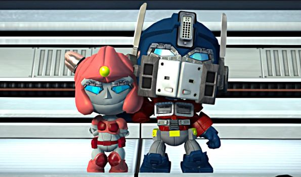 (G1) Optimus Prime and Elita One - LBP3 Costumes by Varia31
