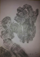 Vi drawing, League of Legends by annemonster