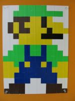 DT Pixel Art Luigi by DuckTape-Rose