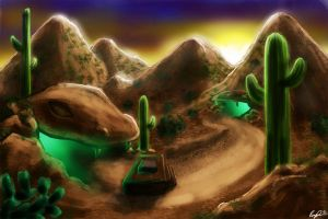 Snake-people Dens by rbl-art