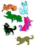 Feline Adoptables -CLOSED- by h-moss