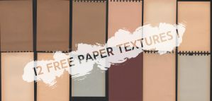 12 Free Paper Textures by Muzard-C