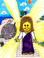 LEGO Jesus Has Risen by SonicClone