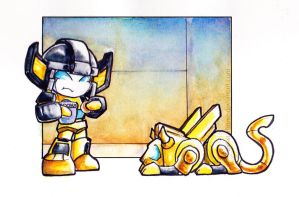 Sunstreaker Shares No Cookie by The-Starhorse
