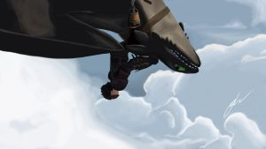 Toothless Flight (HTTYD 2) by Dashketch