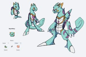 Fakemon Fusion Water starter by Eternity9