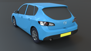 Mazda 3 2010 Rear View by ChukChuk92