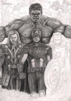 'The Avengers' WIP 60% by Pen-Tacular-Artist