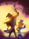 Scarecrow And Mad Hatter Encounter by pink-ninja