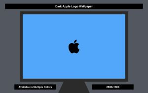 Dark Apple Logo Wallpaper by basileus-phoenix