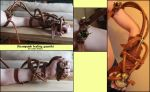 Steampunk healing gauntlet by Noctiped