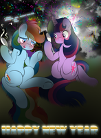 Twi and Dash celebrating new year by V-D-K