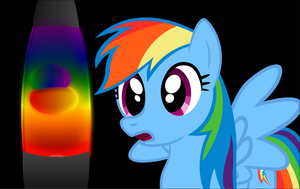 Rainbow Dash Loves Her Lava Lamp by PonyEngineer
