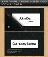Jeans Business Card by dimplegal