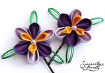 Purple Irises Kanzashi by SincerelyLove