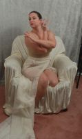 Seated Nouveau Lady 10 by AngelaSasser-stock