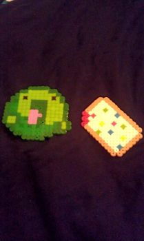 Perler Bead Monster with a Poptart C: by Lovely15Me