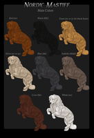 Nordic Mastiff Colors by Megs6