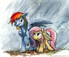 Sketch - Rainbow Umbrella by sophiecabra