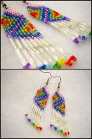 Tie Dye Earrings by Natalie526