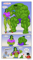 She-Hulk Vs. The Hulk: It's Not What You Think. by Atariboy2600