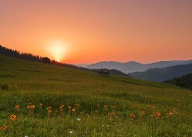 Sunrise of Bukovina. by lica20
