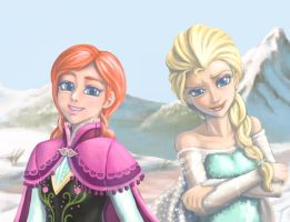 Elsa and Anna by mrs1989