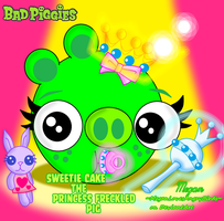 Bad Piggies:Sweetie Cake the Princess Freckled Pig by MeganLovesAngryBirds