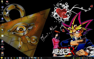 Yami x Anzu Revshipping YGO R Love Desktop by PharaohAtisLioness