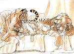 Alean and Two Tigers_comm by Herio13