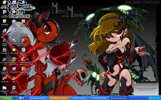 My Desktop: Mimi and Minnie by SonicXfan1