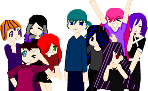 Just The 9 Of Us by gaveZexionmyHeart