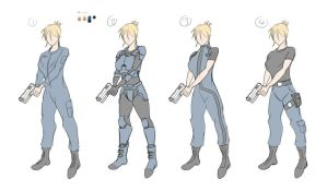Female Marine Tests by Obhan