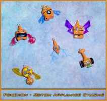 Pokemon Rotom Appliance Charms by YellerCrakka