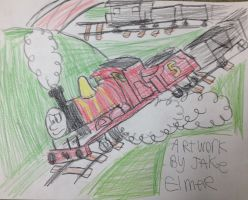 James and the trucks by WolfGang-Jake
